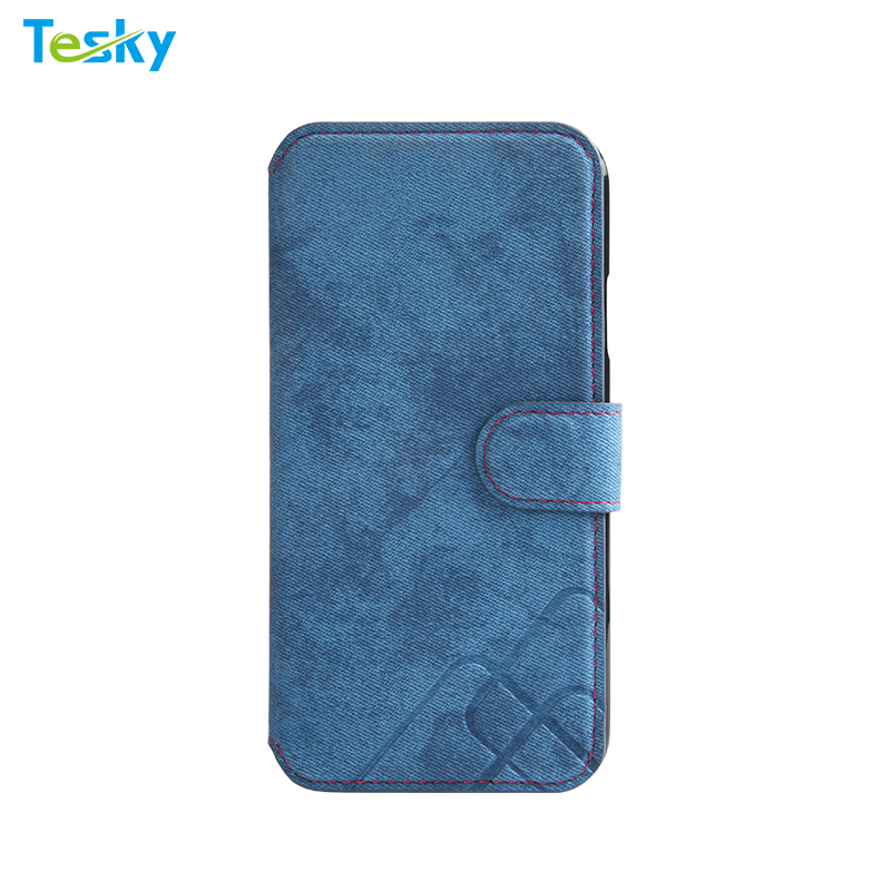 Factory OEM Wholesale High-quality Retro Flip Leather Wallet Phone Case for iPhone Xs