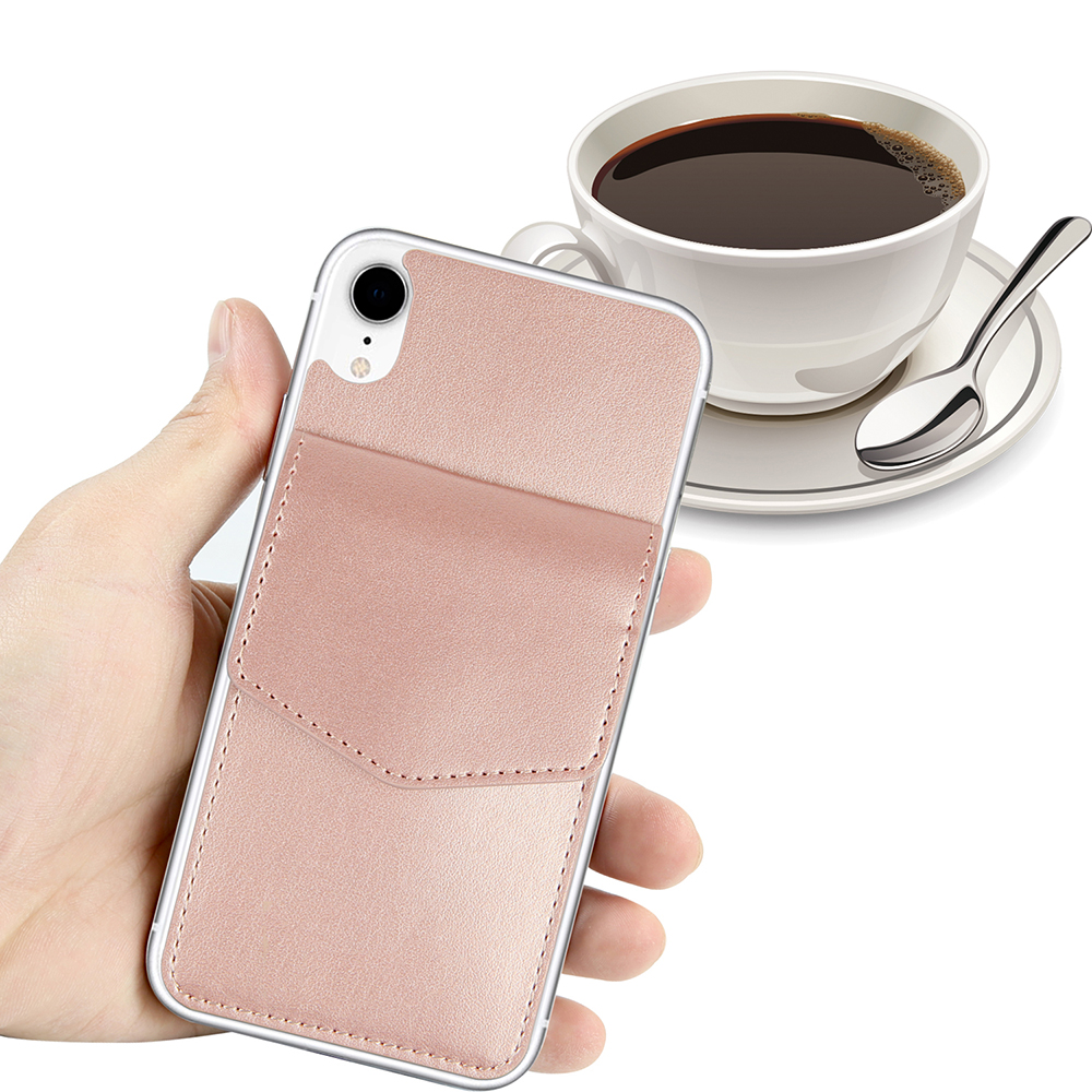OEM Superior PU Leather Self-Adhesive Sticker Credit Card Holder For iPhone XR Case