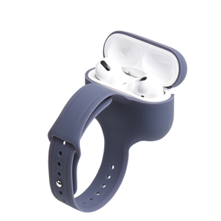 2020 Super Hot Factory Price Wireless Silicone Earphone Protective Case for I Phone Airpods Pro 3 Cover With Watch Wrist Band