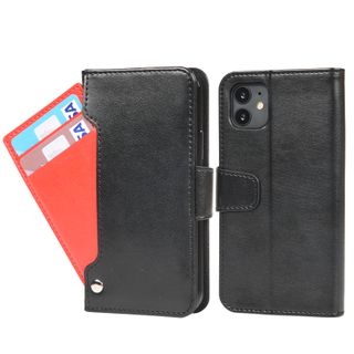 Protective PU Leather Material Cell Phone Accessories 5 Card Slots Flip Wallet Phone Case For iPhone 11