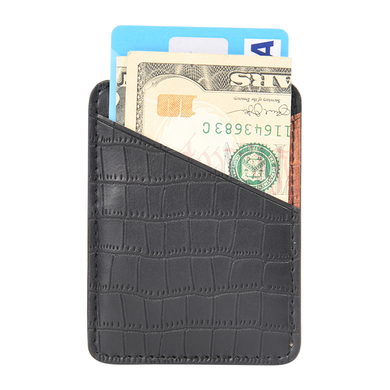 PU 3M Sticker Adhesive Wallet Cell Phone Stick On Back Of Phone,PU Leather Mobile PU Leather Mobile Phone Back Credit Card Holder