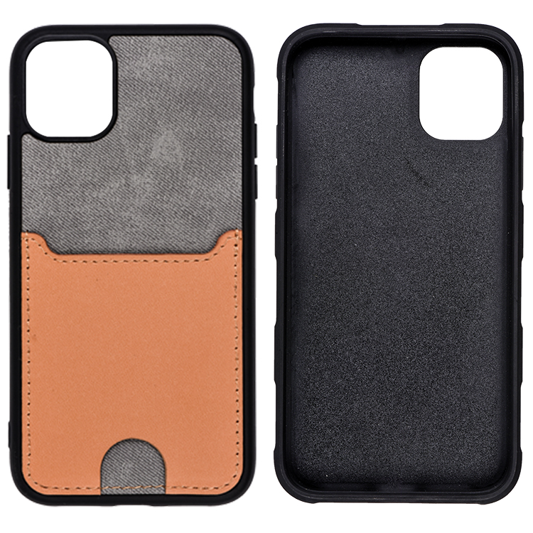 Multi Design Factory Leather Cell Phone Case Back Cover Pouch for iPhone 11 With Card Slots