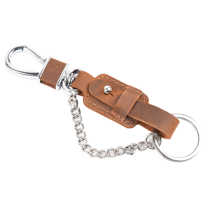 Personalized Cowhide Genuine Leather Key Chain, Leather Key Holder, Leather Key Organizer